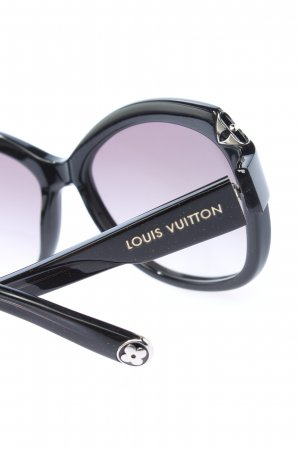 Louis Vuitton ovale Sonnenbrille schwarz Casual-Look