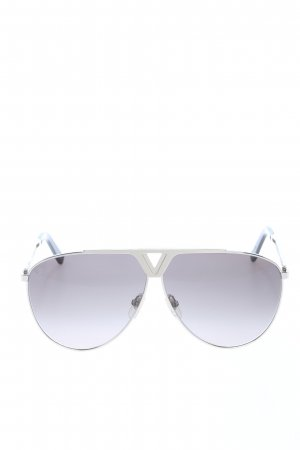 Louis Vuitton Pilot Brille silberfarben Casual-Look
