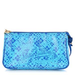 Louis Vuitton Pochette Accessoires 21 GM cosmic blossom blau M93167 Vernis