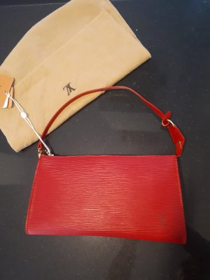 Louis Vuitton Enveloptas donkerrood Leer