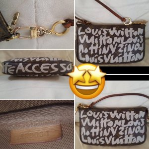 Louis Vuitton Pochette Accessoires Graffiti Limited Edition weiss