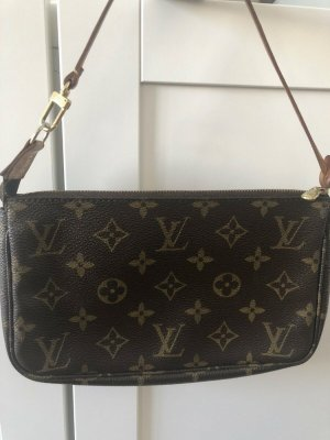 Louis Vuitton Sac à main doré-brun noir lin