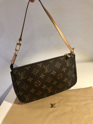 Louis Vuitton Pochette, Classic Canvas, braun