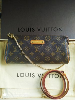 Louis Vuitton Pochette Eva Monogram Canvas, original.