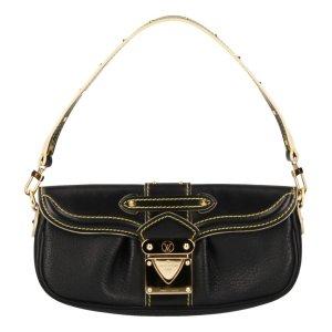 Louis Vuitton Pochette Le Précieux Clutch aus Suhali Leder in Schwarz Tasche Handtasche