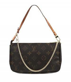Louis Vuitton Pochette monogram Canvas Naturleder Vintage