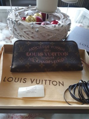 Louis Vuitton Wallet bronze-colored mixture fibre