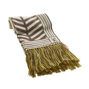 Louis Vuitton Scarf white wool