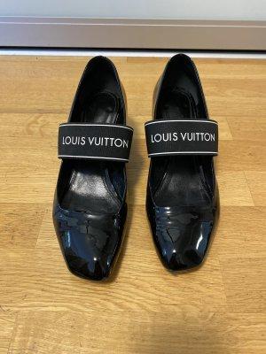Louis Vuitton Escarpins Mary Jane noir cuir