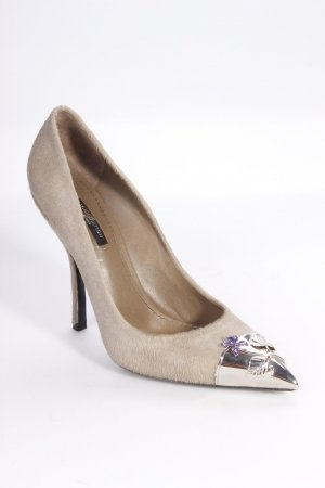 Louis Vuitton Pumps grau Felloptik