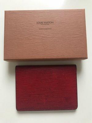 Louis Vuitton Tarjetero rojo oscuro