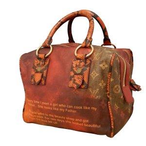 Louis Vuitton Bolso rojo fibra textil