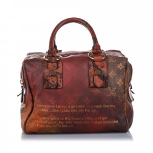 Louis Vuitton Richard Prince Karung Trimmed Monogram Jokes Heartbreak Tote
