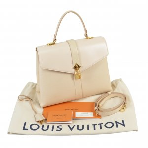 Louis Vuitton Rose des Vents MM Leder Handtasche Creme @mylovelyboutique.com