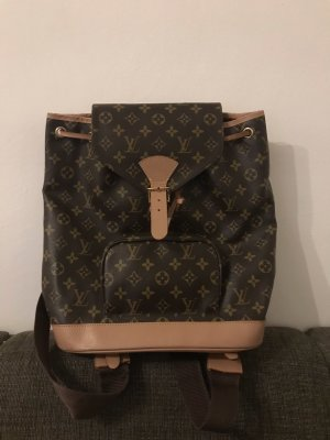 Louis Vuitton School Backpack black brown-beige leather