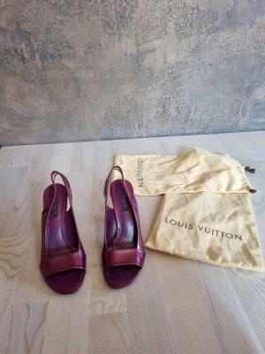 Louis Vuitton Sandały na platformie fioletowy Skóra
