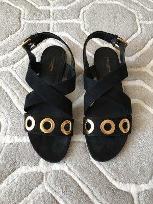 Louis Vuitton Sandalo con cinturino nero Scamosciato