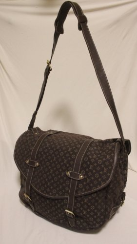 LOUIS VUITTON Saumur XL Monogram mini run shoulder bag canvas leather Brown (CA1006)