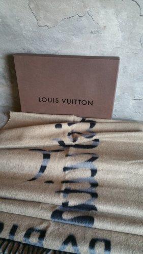 Louis Vuitton Bufanda de cachemir negro-marrón grisáceo Cachemir