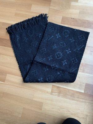 Louis Vuitton Wełniany szalik czarny-ciemnozielony