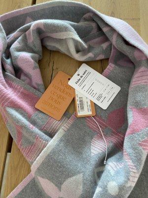 Louis Vuitton Écharpe en cachemire gris-or rose