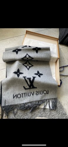 Louis Vuitton Cashmere Scarf black-grey