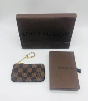 Louis Vuitton Key Chain dark brown-beige