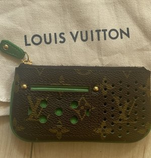 Louis Vuitton Tarjetero marrón-verde bosque