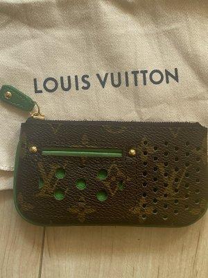 Louis Vuitton Key Case brown-green linen