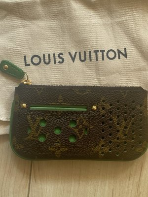 Louis Vuitton Key Case brown-forest green leather