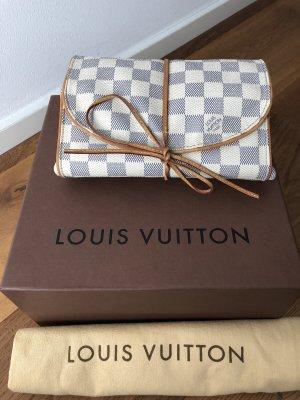 Louis Vuitton Bolso de viaje blanco-azul aciano