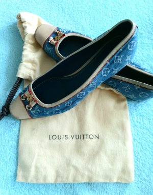 Louis Vuitton Schuhe, Slipper Jeansstoff 36,5