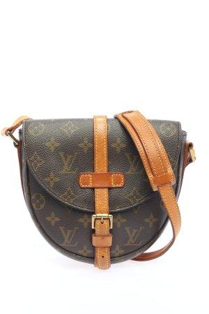 Louis Vuitton Schultertasche hellgrau-hellorange Motivdruck Casual-Look