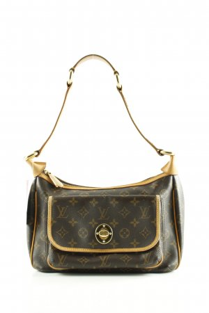 Louis Vuitton Schultertasche braun-blassgelb Allover-Druck Business-Look