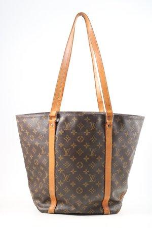 Louis Vuitton Schultertasche braun-hellorange Motivdruck Business-Look