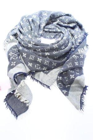 Louis Vuitton Schultertuch blau-weiß Allover-Druck Casual-Look