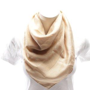 Louis Vuitton Bufanda de seda crema Seda