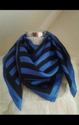 Louis Vuitton Jedwabny szal czarny-ciemnoniebieski