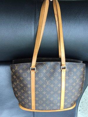 Louis Vuitton Shopper brun foncé-beige