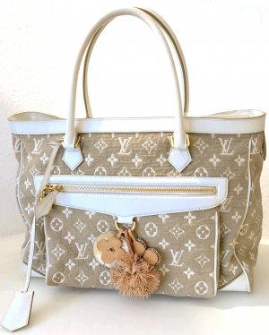 Louis Vuitton Shopper Tasche Beige Weiß LV Monogram Sabbia Cabas GM Bag White