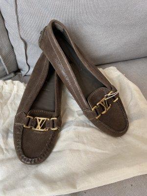 Louis Vuitton Mocassino marrone scuro-oro