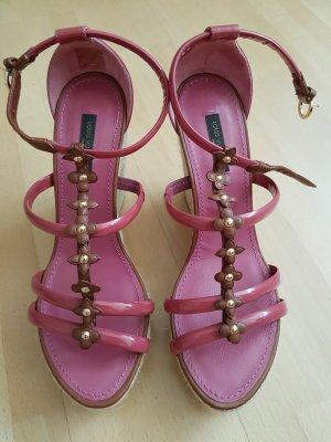 Louis Vuitton Espadryle brązowy-różowy