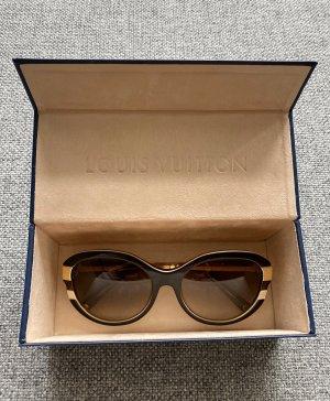 Louis Vuitton Gafas mariposa marrón-color oro