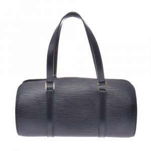 Louis Vuitton Handtas zwart Leer