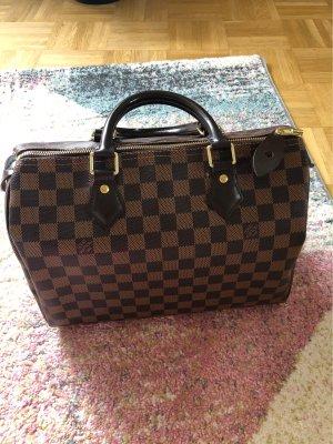 Louis Vuitton Bolso de bolos marrón-marrón-negro Cuero