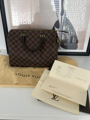 Louis Vuitton Handbag dark brown-cognac-coloured
