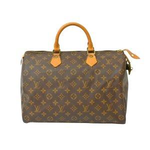 Louis Vuitton Handtas bruin Textielvezel