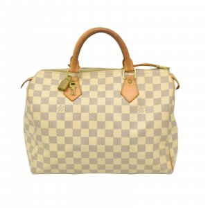 Louis Vuitton Bolso blanco fibra textil