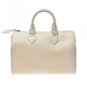 Louis Vuitton Bolso blanco Cuero