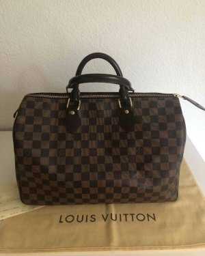 Louis Vuitton Bowlingtas zwart-bruin